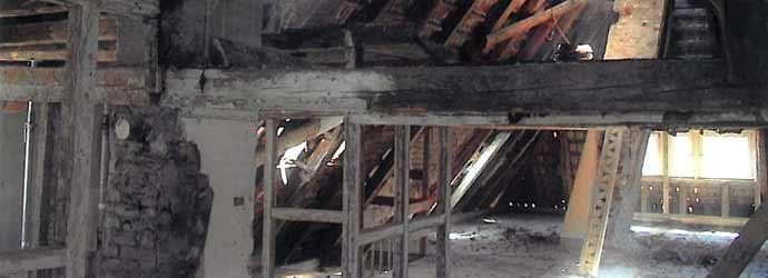 Entkernung des Gebäudes Blick in Richtung Löwenstraße Bild 1